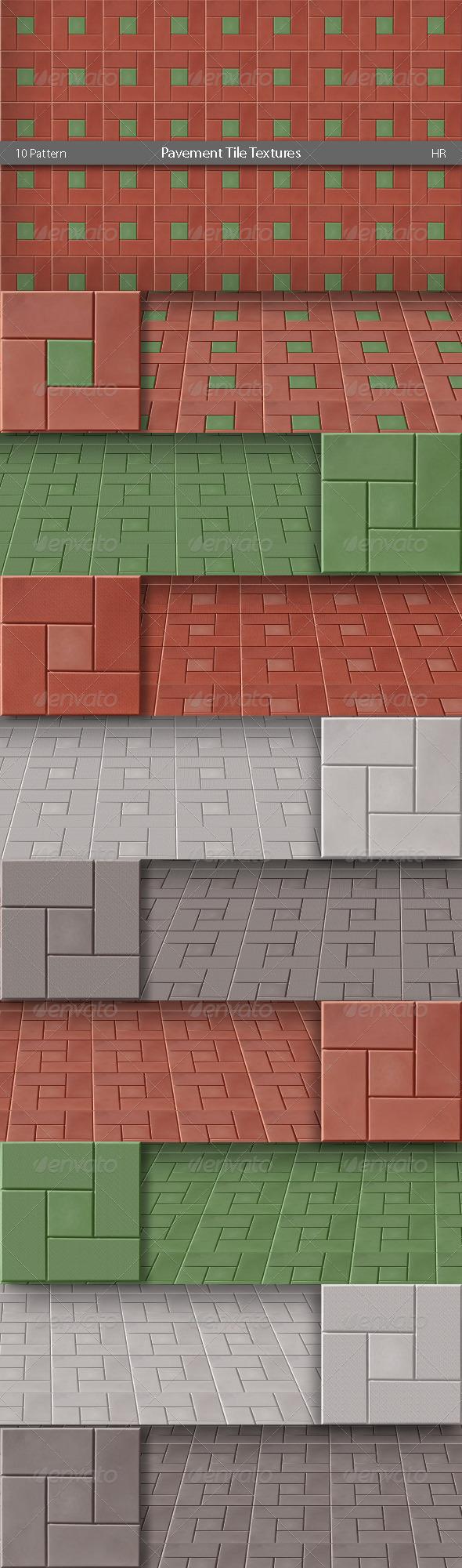 Pavement Tile Textures - 3DOcean Item for Sale
