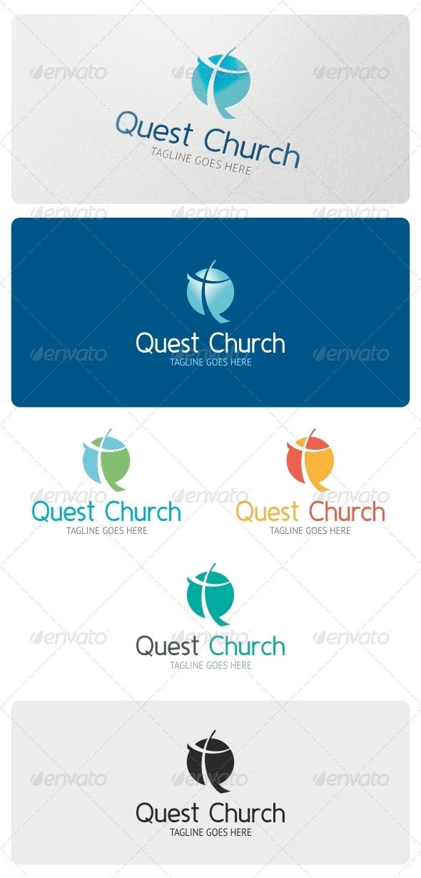 Quest Church Logo Template - Vector Abstract