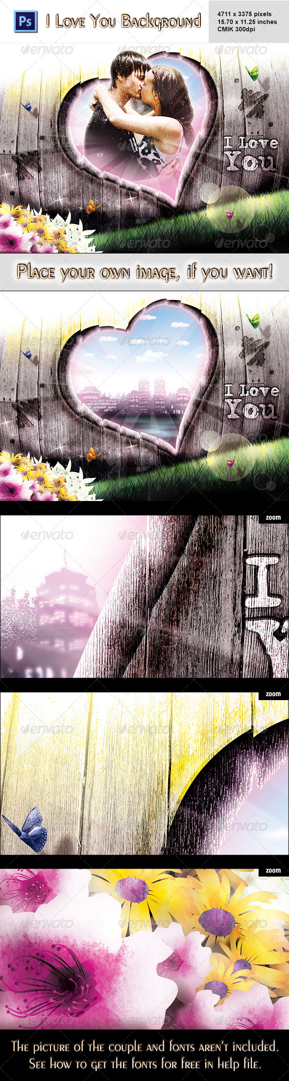 I Love You Background - 3D Backgrounds