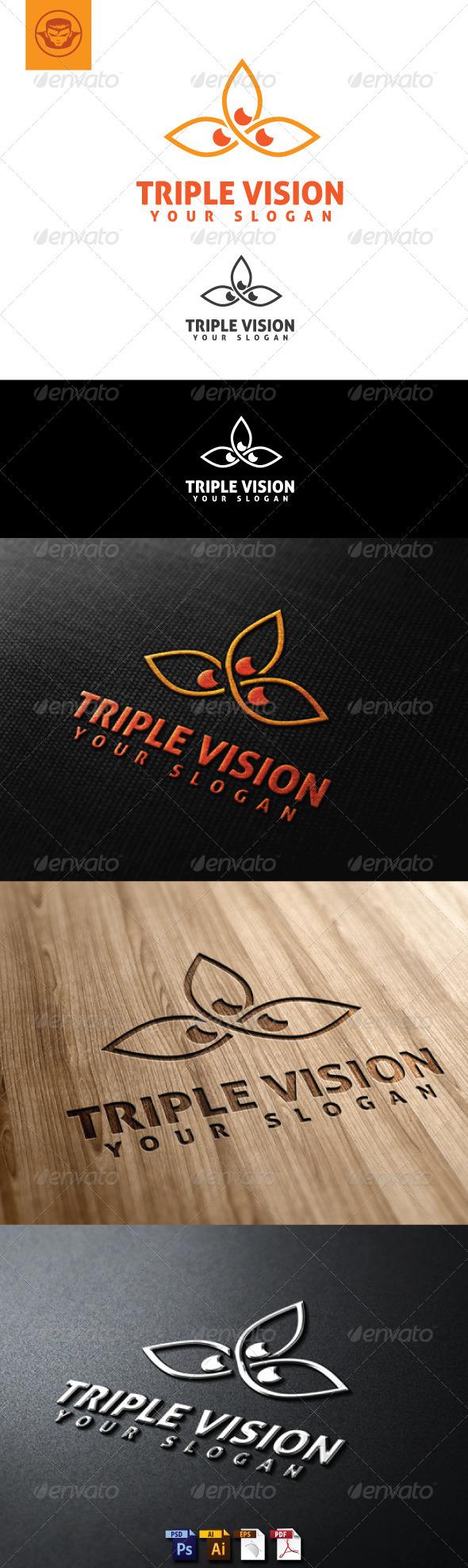 Triple Vision Logo Template - Symbols Logo Templates