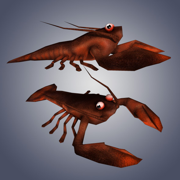 Low Poly Lobster - 3DOcean Item for Sale