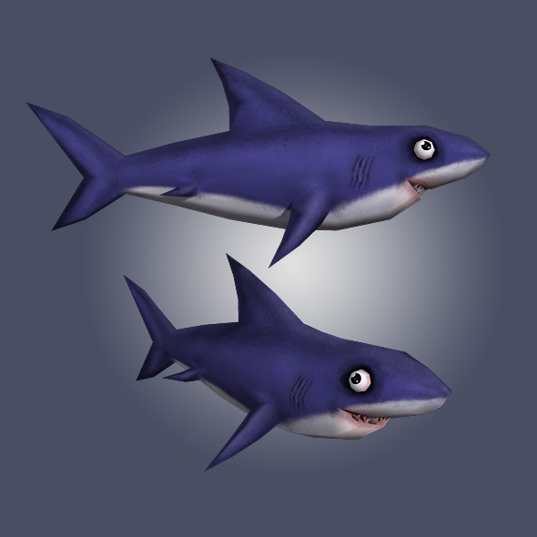 Low Poly Shark - 3DOcean Item for Sale