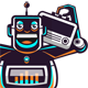 Dancing Robot with Radio - GraphicRiver Item for Sale