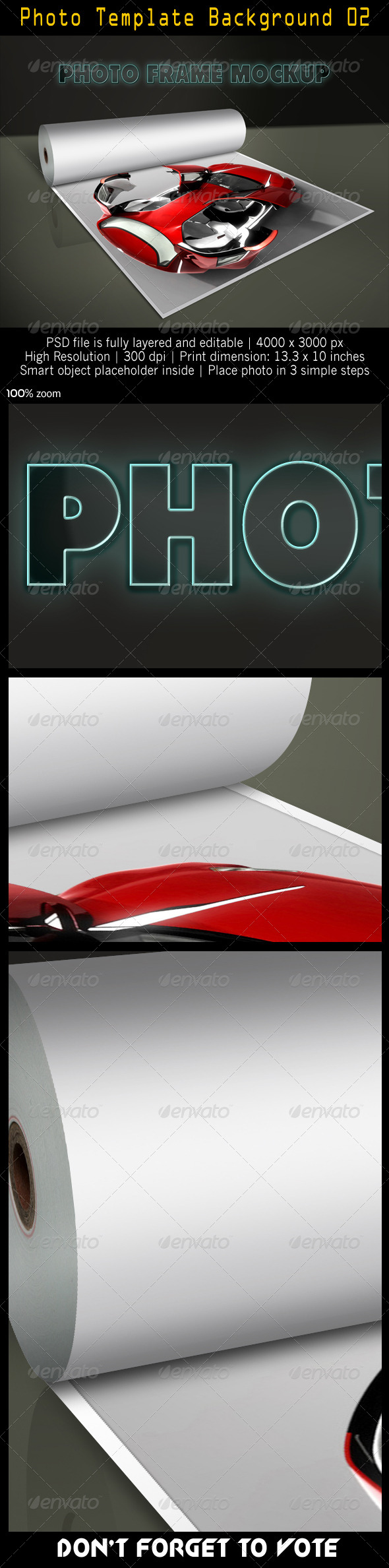 Photo Template Background 02 - Artistic Photo Templates