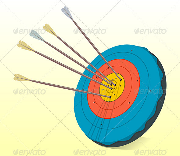 Vintage Target and Arrows - Man-made Objects Objects