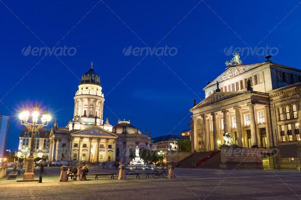 The Gendarmenmarkt in Berlin  - Stock Photo - Images