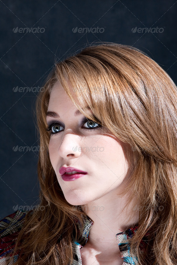 Beautiful dirty-blond woman - Stock Photo - Images