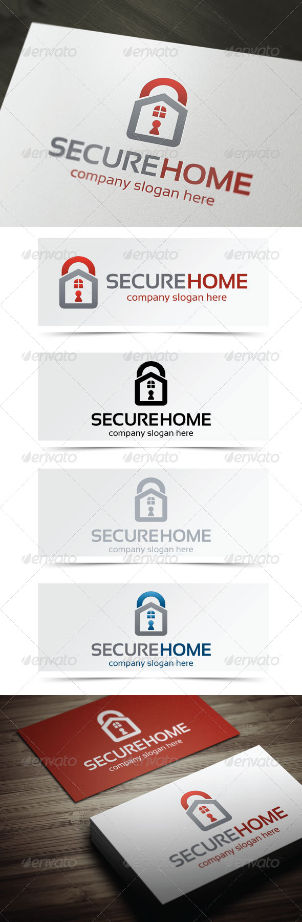 Secure Home - Symbols Logo Templates