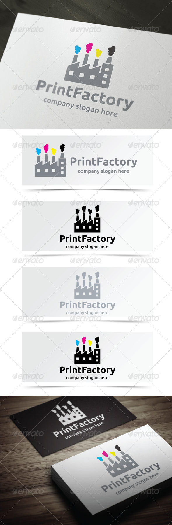 Print Factory - Buildings Logo Templates