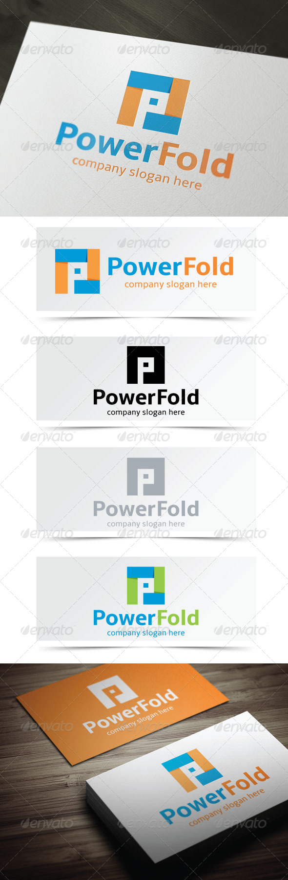 Power Fold - Letters Logo Templates