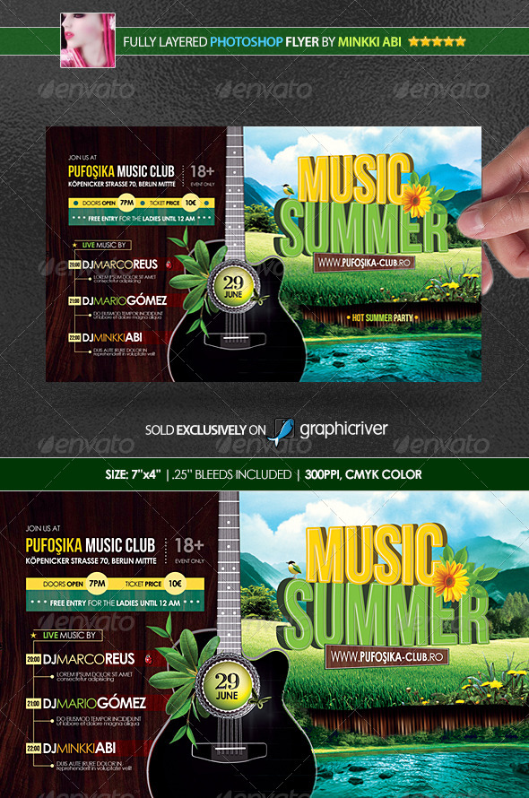 Summer Music Poster/Flyer - Events Flyers