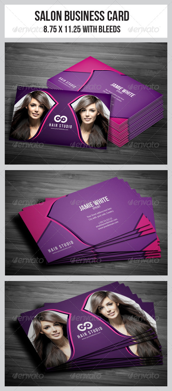 Salon Business Card Vol.4 - Industry Specific Business Cards
