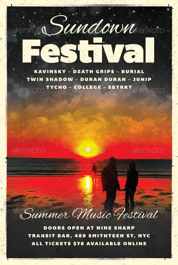 Sundown - Summer Flyer Template - Clubs & Parties Events