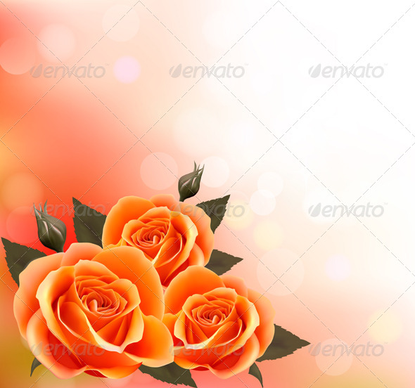 Holiday Background with Three Flowers - Flowers & Plants Nature