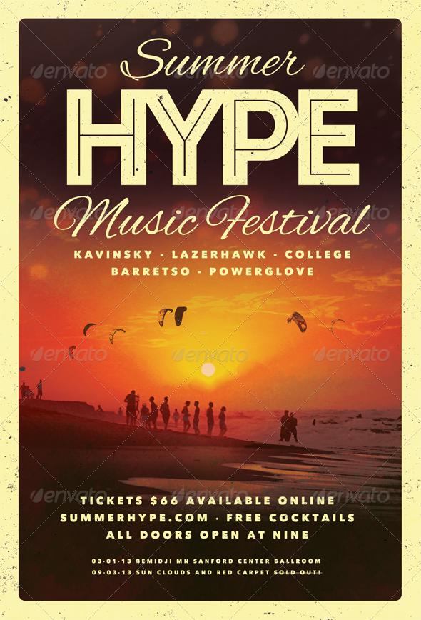 Summer Hype - Summer Flyer Template - Clubs & Parties Events