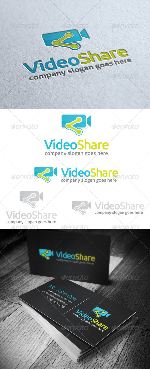 Video Share Logo - Objects Logo Templates