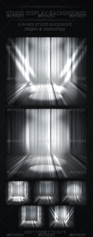 Studio Back Drop Spot Light Backgrounds - 3D Backgrounds