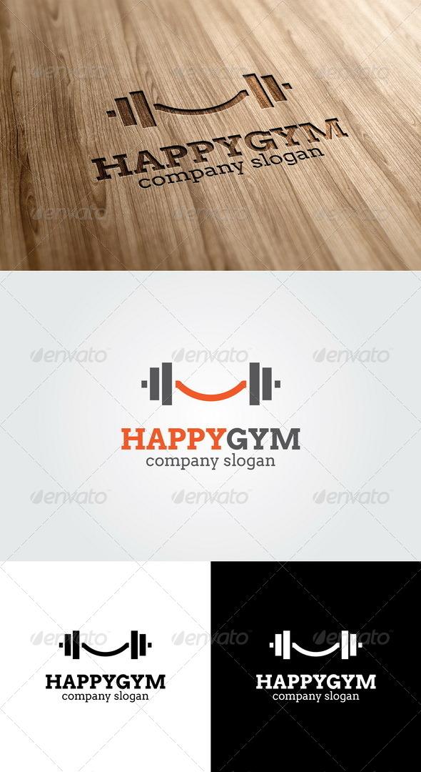 Happy Gym Logo  - Objects Logo Templates
