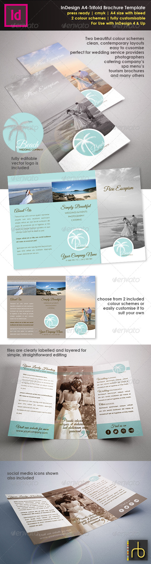 InDesign A4 Trifold Brochure Template - Brochures Print Templates