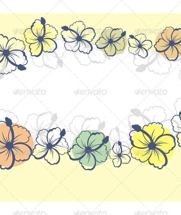 Hibiscus - Backgrounds Decorative