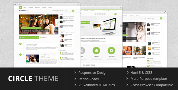 Circle theme - Multi Purpose Template