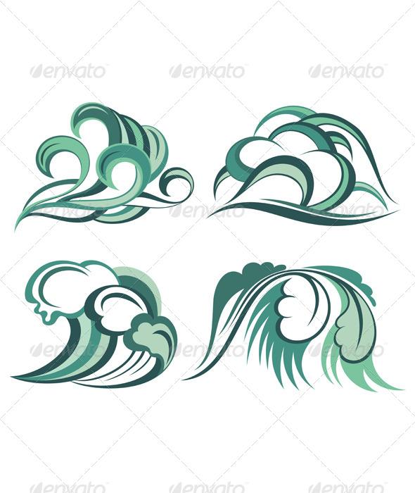 Water Splashes - Decorative Symbols Decorative
