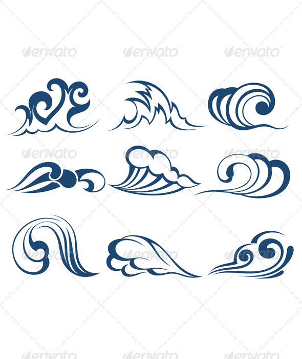 Collection of Water - Decorative Symbols Decorative