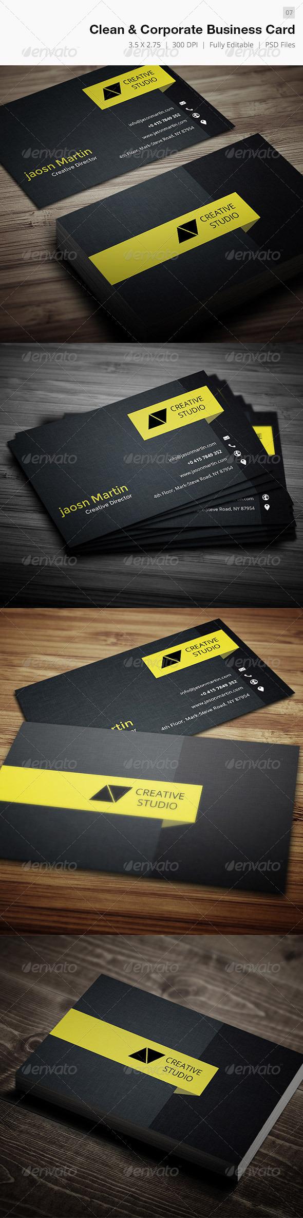 Creative Corporate Business Card - 07 - Creative Business Cards