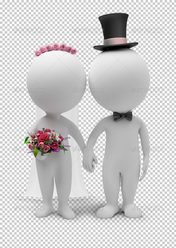 3D Small People - Wedding - Characters 3D Renders