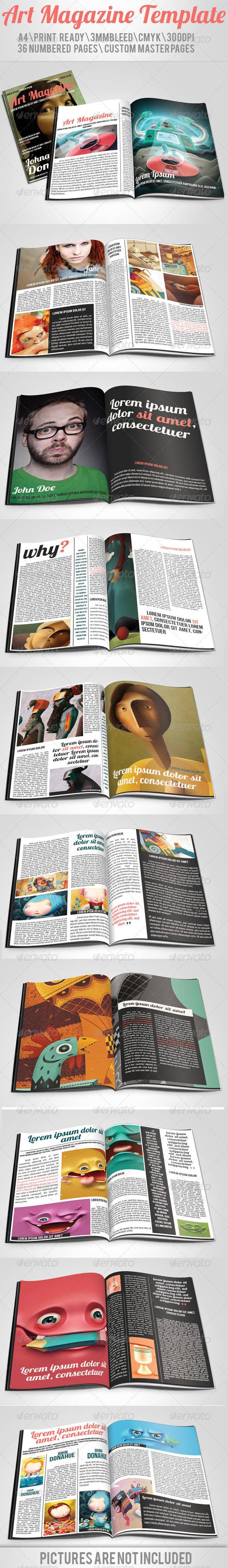 Art Magazine Template - Magazines Print Templates