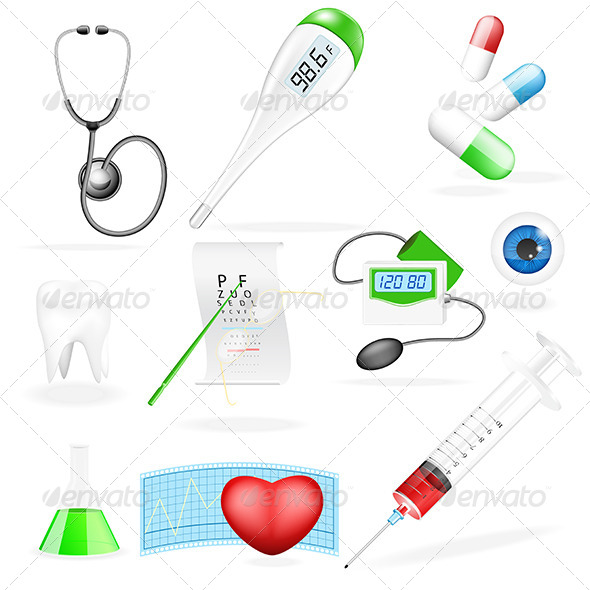 Medical Set - Health/Medicine Conceptual