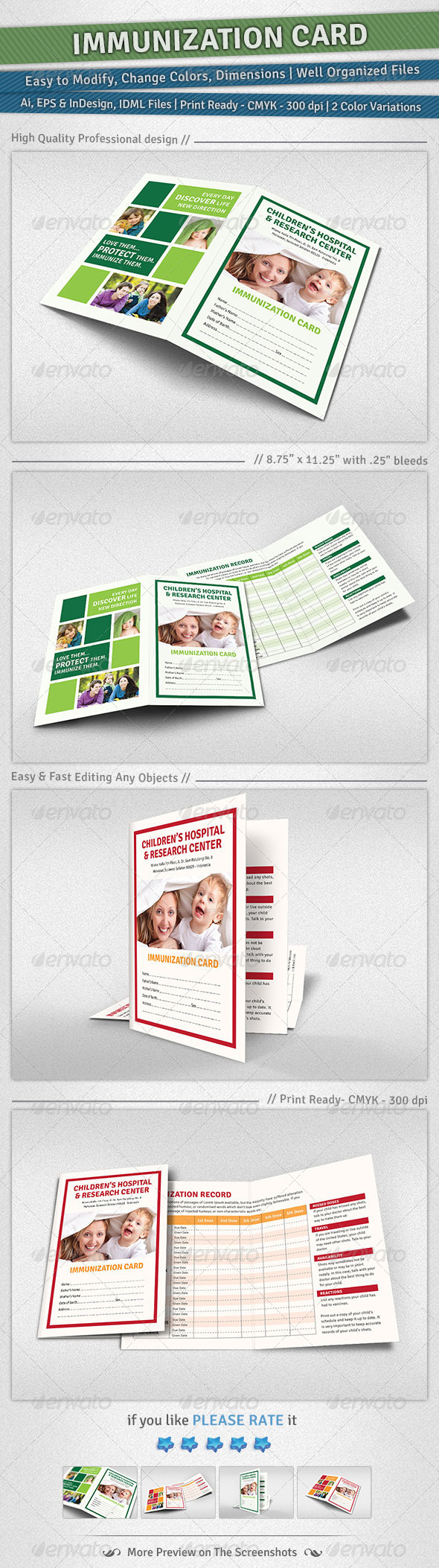Immunization Card - Miscellaneous Print Templates