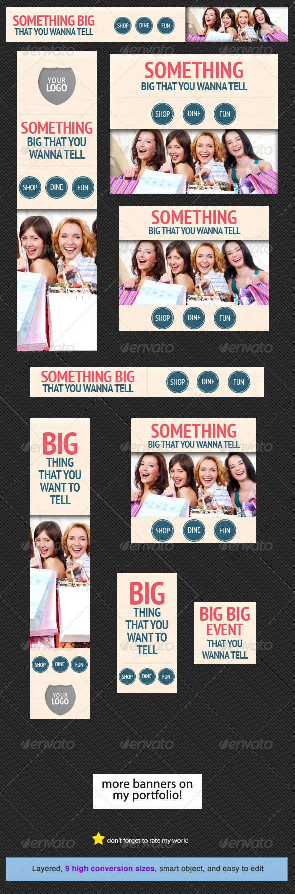 Shop and Dine Web Banner Design Template - Banners & Ads Web Elements