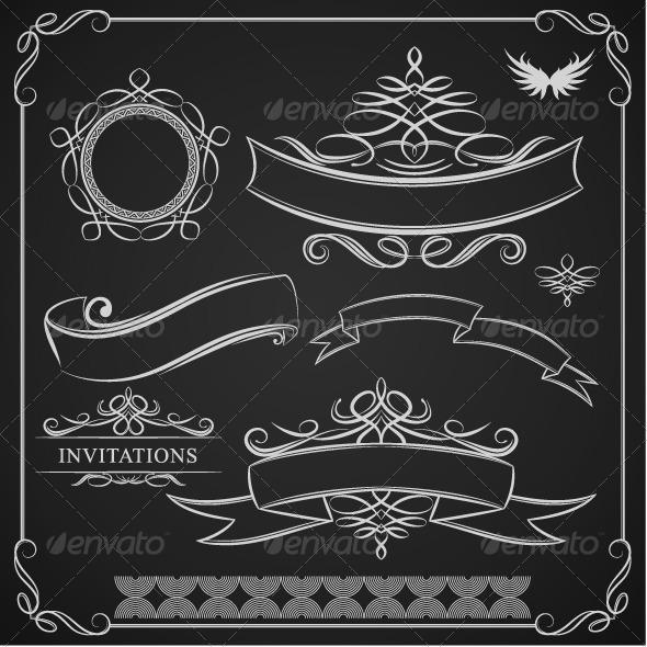 Ribbon Ornament - Borders Decorative