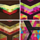 Set of Four Abstract Retro Geometric Background  - GraphicRiver Item for Sale