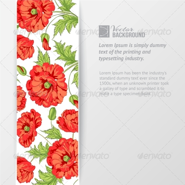 Background with Red Poppies. - Flowers & Plants Nature