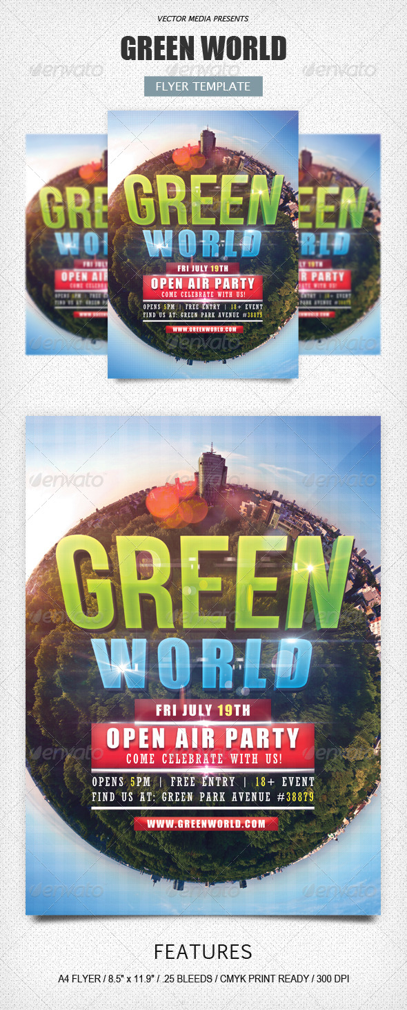 Green World - Flyer - Clubs & Parties Events