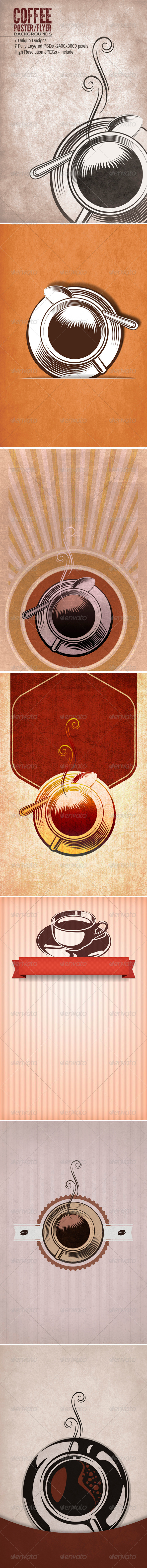 Coffee Tea Poster/Flyers Backgrounds - Miscellaneous Backgrounds