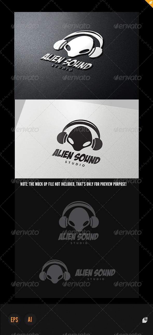 Alien Sound Logo - Humans Logo Templates