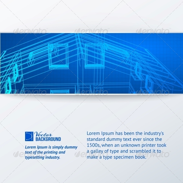 Abstract Building Banner. - Abstract Conceptual