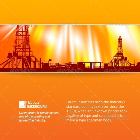 Abstract Oil Rig Background. - Abstract Conceptual