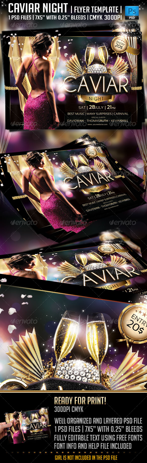 Caviar Night Flyer Template - Clubs & Parties Events