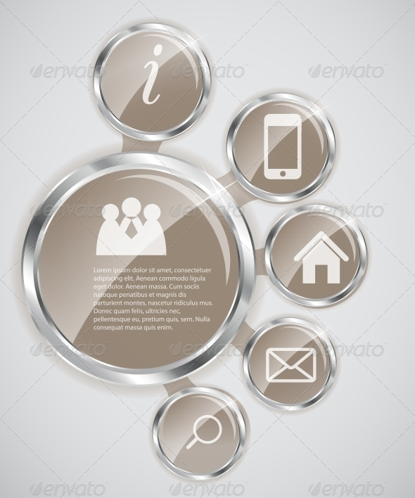 Website Template. Vector Illustration. - Web Elements Vectors