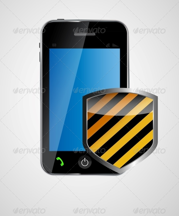 Security Phone Concept Vector Illustration - Computers Technology