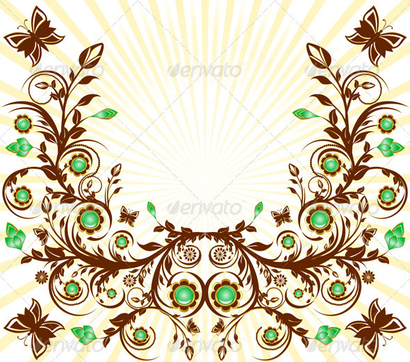 Vector Illustration of a Floral Ornament - Backgrounds Decorative