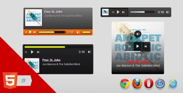 HTML5 Music Player - CodeCanyon Item for Sale