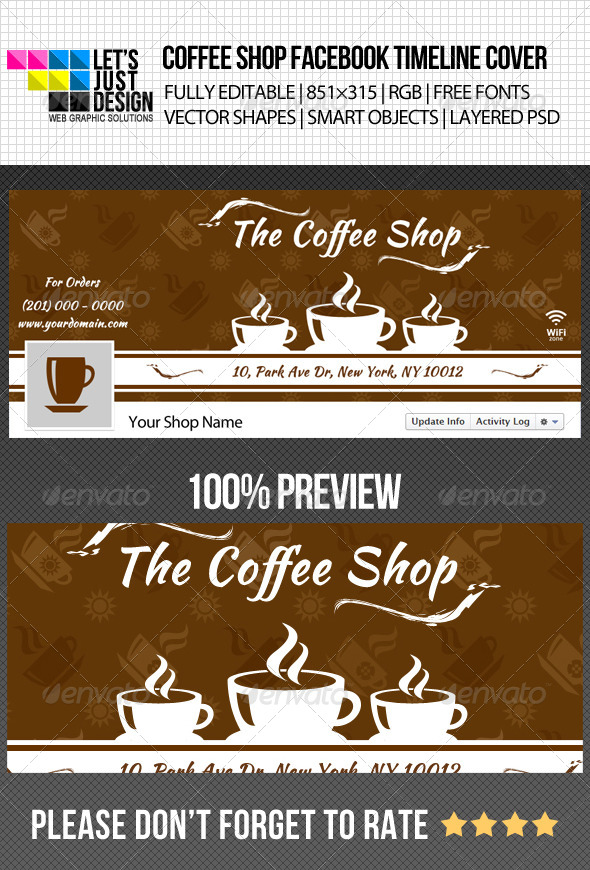 Simple Coffee Shop Facebook Timeline Cover - Facebook Timeline Covers Social Media