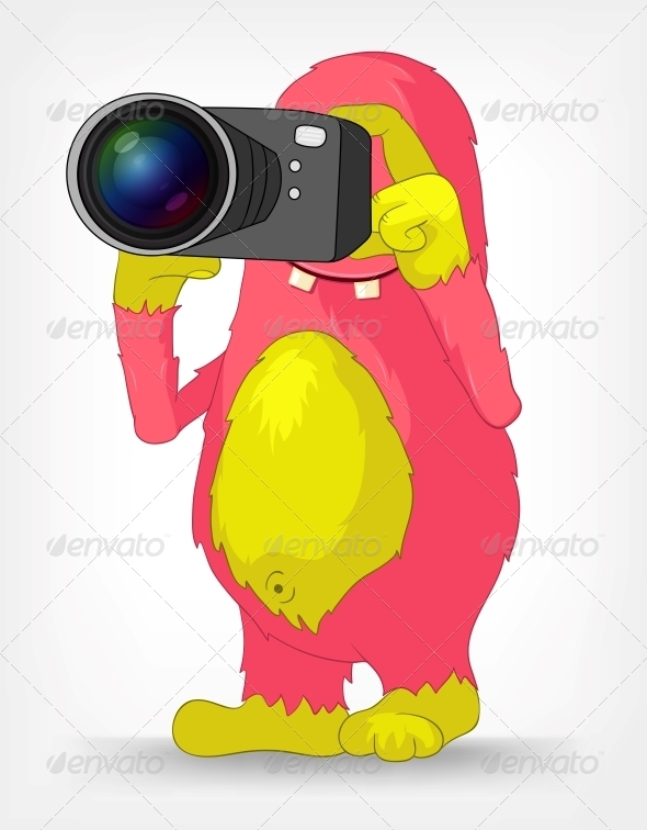 Funny Monster. Photographer. - Monsters Characters