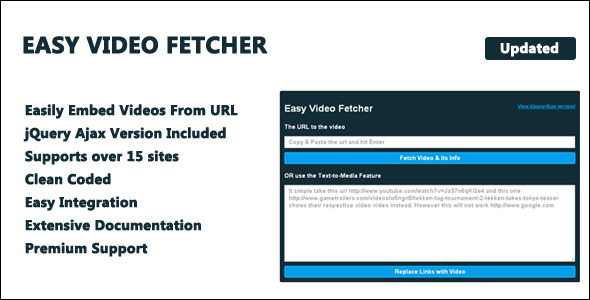 Easy Video Fetcher - CodeCanyon Item for Sale