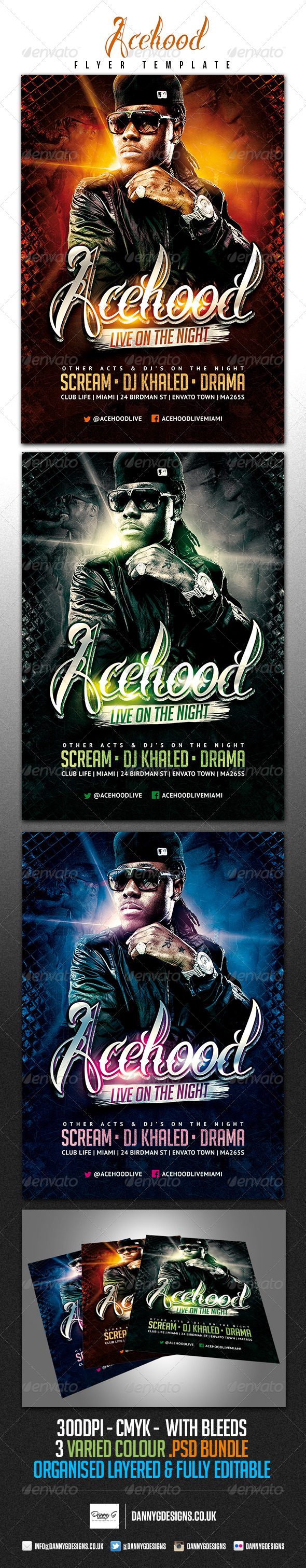 Acehood Rap Hip Hop flyer - Clubs & Parties Events